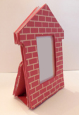 "Brick House Tabletop Frame Tree Ornament For 1.5"" x 2.5"" P"