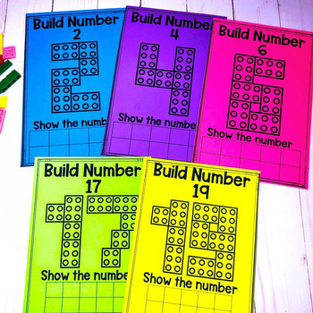 Brick Number Cards 1-20