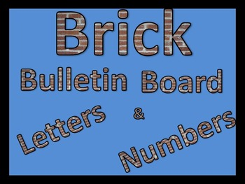 """Brick Pattered Bulletin Board Letters and Numbers with ? ! ( ) """" """" ,"""