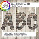 Brick Pattern Letters