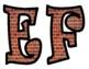 Brick Patterned Bulletin Board Letters