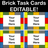 Brick Task Cards Template EDITABLE! Personal & Commercial Use