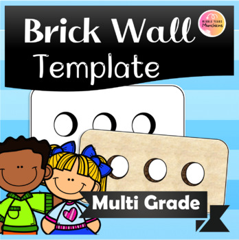 Brick Wall Template - We Fit Together FREEBIE