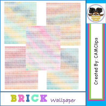 Brick Wallpaper - watercolours  (CAMClips)