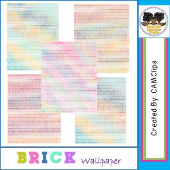 Brick Wallpaper - watercolours  (CAMClips)