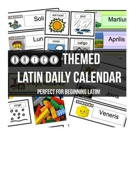 Brick-themed Latin Daily Calendar