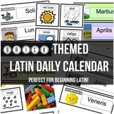 Brick-themed Latin Daily Calendar Labels