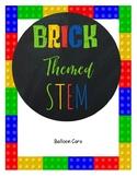 Brick themed STEM - Balloon Cars