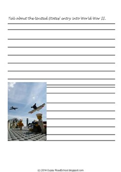 Brick-themed World War 2 Activity Pack  WWII