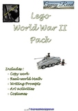 Brick-themed World War 2 Activity Pack  WWII