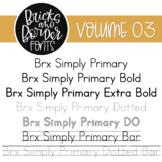 Bricks and Border Fonts Volume Three