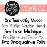 Bricks and Border Fonts Volume Two