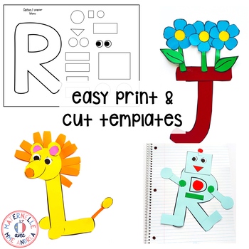 Bricolages d'alphabet (FRENCH Alphabet Crafts for Uppercase Letters)