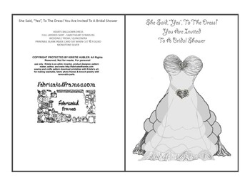 photo about Bridal Shower Invitations Printable known as Bridal shower invitation / invite printable card grey ballgown costume artwork