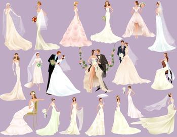 Bride Groom Clip Art Wedding ClipArt Digital Bride Clipart Scrapbook Wedding