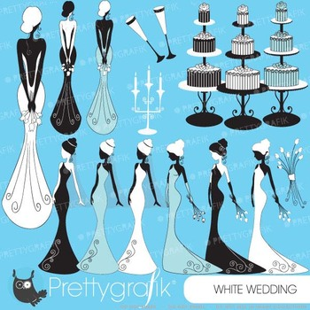 Bride wedding clipart commercial use, vector graphics, digital clip art - CL451