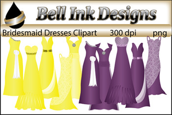 Bridesmaid Dresses Clipart