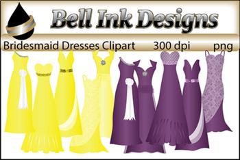 Bridesmaid Dresses Clipart