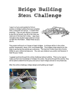 Bridge Building STEM Challenge