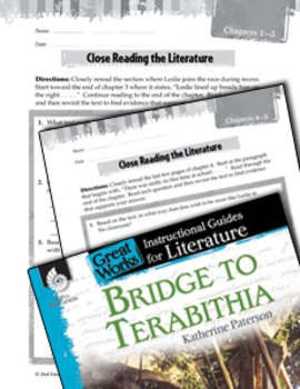 Bridge To Terabithia Close Reading And Text-Dependent Questions