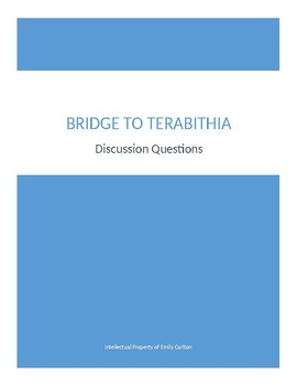 Bridge To Terabithia Discussion Questions