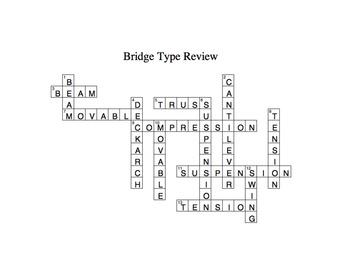 Bridge Types Foldable & Crossword
