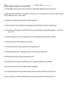Bridge of Spies Questions or Quiz