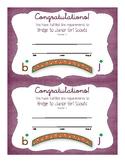 Bridge to Junior Girl Scouts Certificate