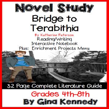 Bridge to Terabithia Complete Novel Study & Enrichment Project Menu