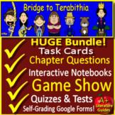 Bridge to Terabithia Google Novel Study Print AND Paperless + Self-Grading Tests