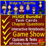 Bridge to Terabithia Novel Study  -  Printable AND Google w/ Self-Grading Tests