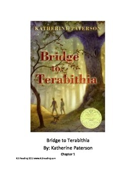 Bridge to Terabithia Adapted Book with review questions PDF format 24 pages