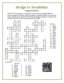 Bridge to Terabithia: Anagram Crossword Puzzle—Unique Spelling Workout!