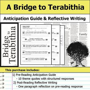 Bridge to Terabithia - Anticipation Guide & Reflection