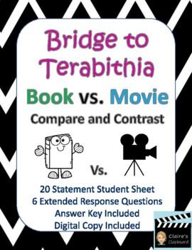 Bridge to Terabithia Book vs  Movie Compare and Contrast
