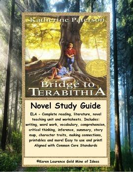 Bridge to Terabithia By Katherine Paterson ELA Novel Reading Study Guide
