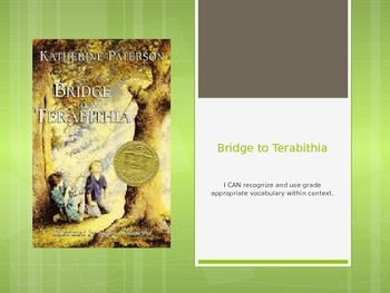 Bridge to Terabithia - Ch 1 & 2 Vocabulary