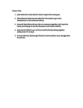 Bridge to Terabithia Ch.10 Reading Quiz