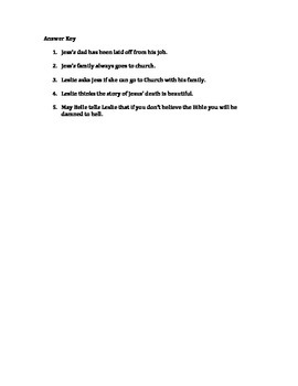 Bridge to Terabithia Ch.8 Reading Quiz