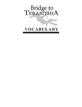 Bridge to Terabithia Chapter 1 Vocabulary Worksheet