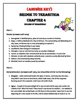 Bridge to Terabithia Chapter 4