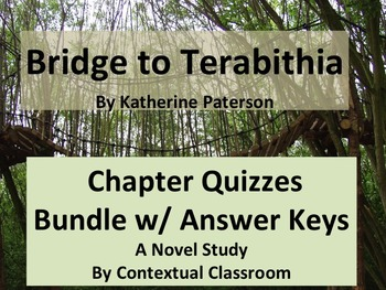 Bridge to Terabithia Chapter Quizzes Bundle