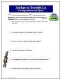 Bridge to Terabithia Comprehension 6 Question Quiz and Answer Key