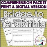 Bridge to Terabithia Comprehension Packet