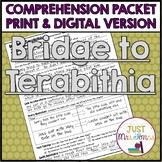 Bridge to Terabithia Comprehension Packet