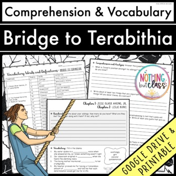 Bridge to Terabithia: Comprehension & Vocabulary by chapter