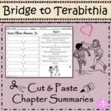 Bridge to Terabithia- Cut and Paste- Easy Chapter Summary Printable
