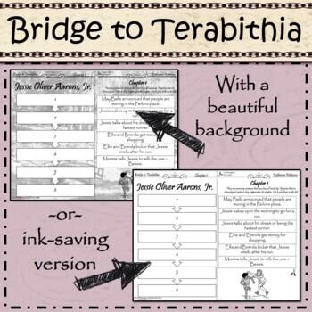 Bridge to Terabithia- Cut and Paste- Chapter Summary Printable