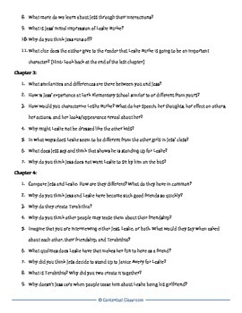 Bridge to Terabithia Discussion Questions for Each Chapter