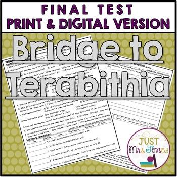 Bridge to Terabithia Final Test